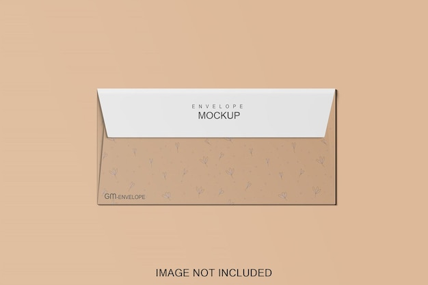 Projeto de maquete de envelope isolado