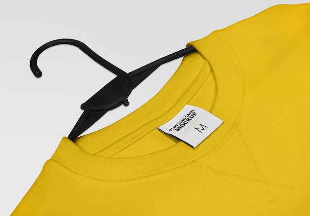 Projeto de maquete de etiqueta de roupa isolado