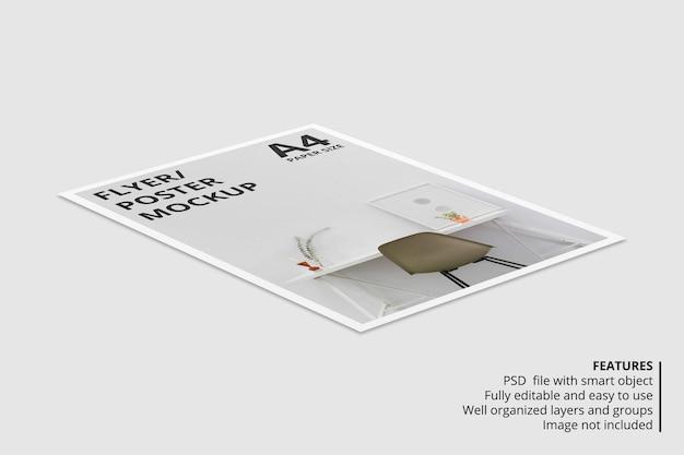Projeto de maquete de folheto a4