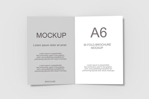 Projeto de maquete de folheto bifold em renderização 3d