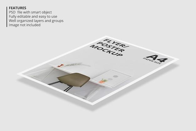 Projeto de maquete de folheto flutuante