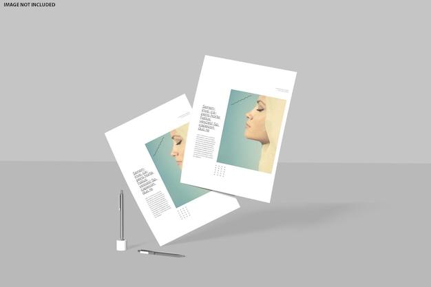 Projeto de maquete de folheto
