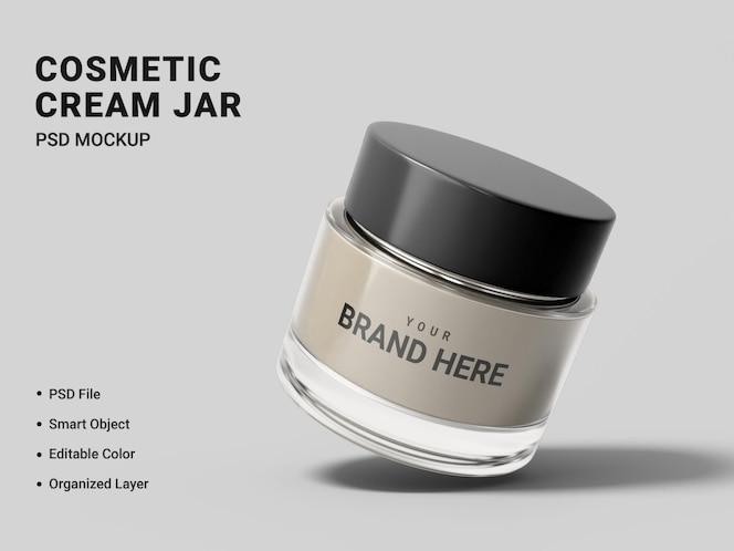 projeto de maquete de frasco de creme cosmético isolado