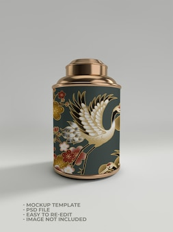 Projeto de maquete de frasco de ouro pequeno