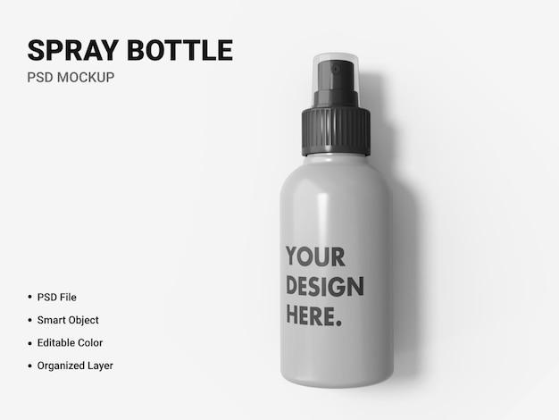 Projeto de maquete de frasco spray isolado