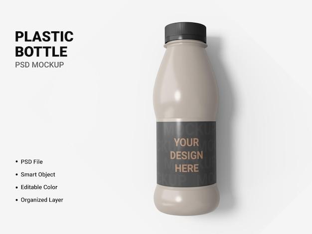 Projeto de maquete de garrafa de plástico isolado