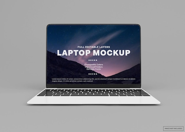 Projeto de maquete de laptop moderno isolado
