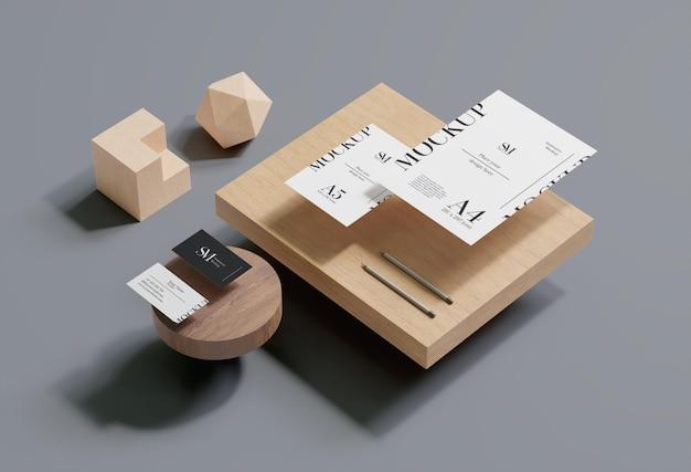 Projeto de maquete de levitação estacionária de madeira