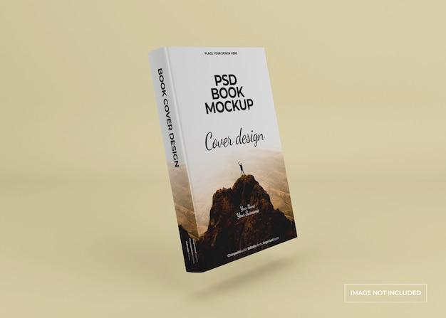 Projeto de maquete de livro de capa dura isolado