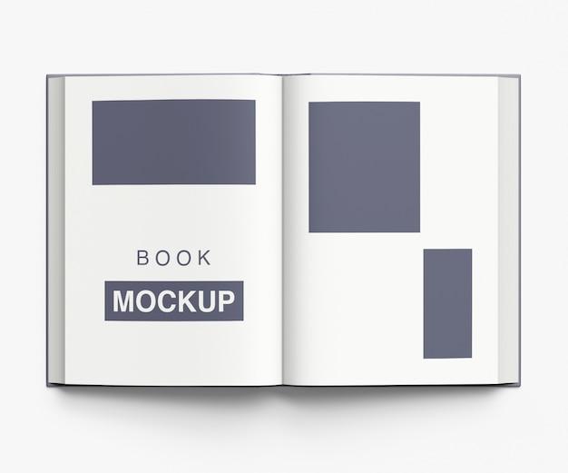 Projeto de maquete de livro ou revista aberto