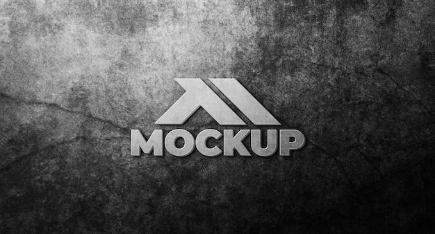 Projeto de maquete de logotipo 3d realista