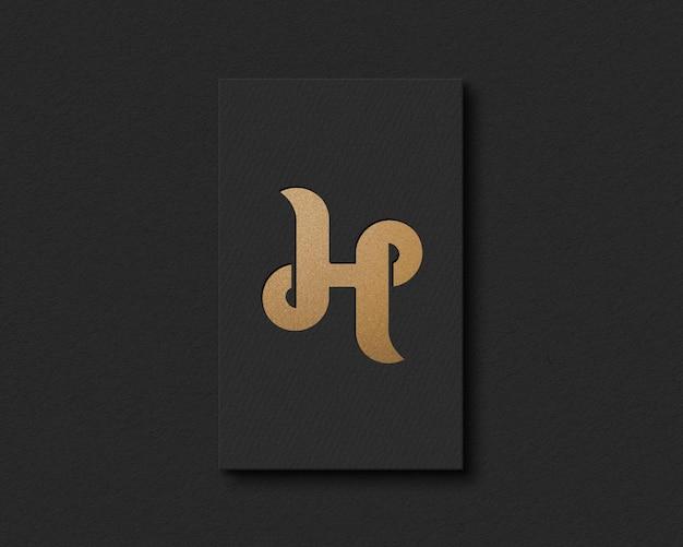 Projeto de maquete de logotipo em relevo de papel