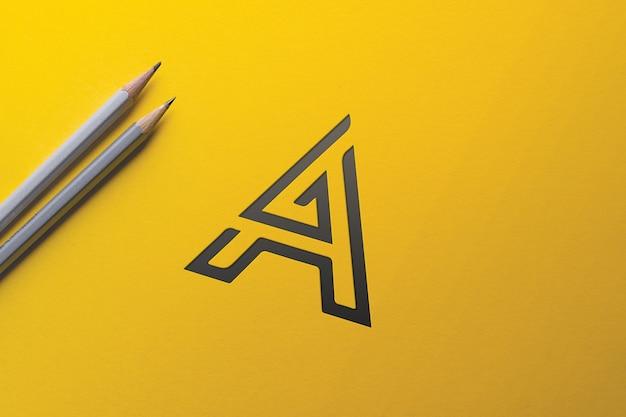 Projeto de maquete de logotipo para negócios