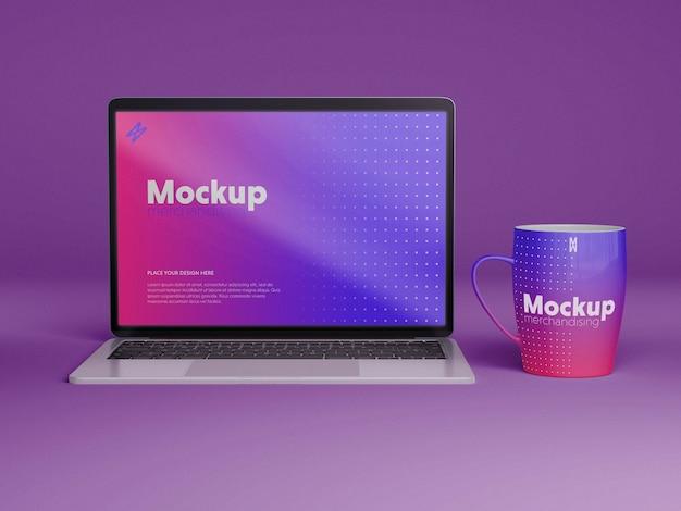 Projeto de maquete de merchandising de computador
