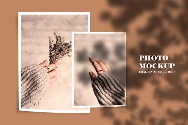 Projeto de maquete de moldura de foto de verão em renderização 3d