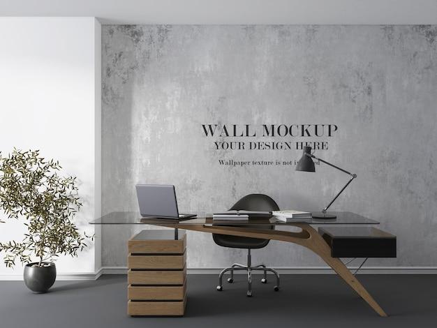 Projeto de maquete de parede da sala do gerente