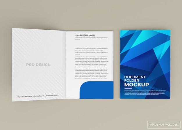 Projeto de maquete de pasta de documento isolado