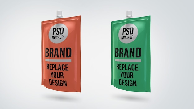 Projeto de maquete de renderização 3d de bolsa