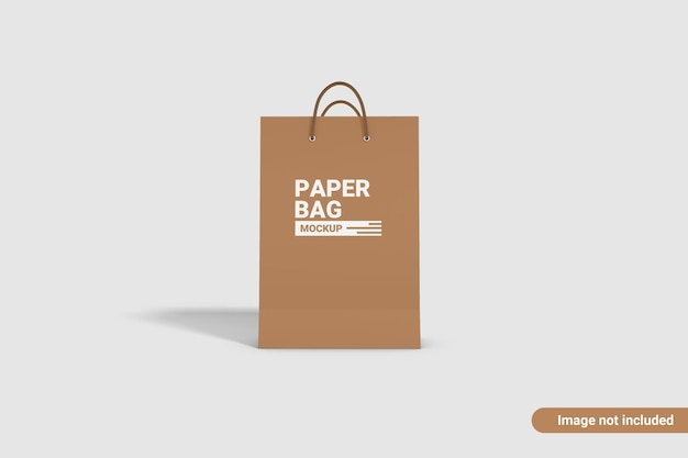 Projeto de maquete de saco de papel isolado