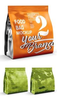 Projeto de maquete de sacola de comida em renderização 3d