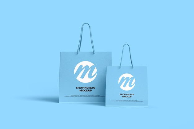 Projeto de maquete de sacola de compras ou sacola de papel