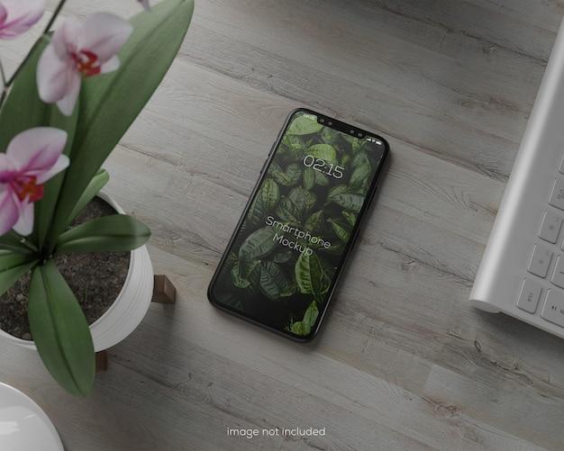 Projeto de maquete de smartphone em tela cheia