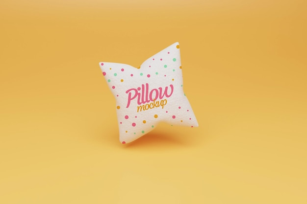 Projeto de maquete de travesseiros voadores Psd Premium