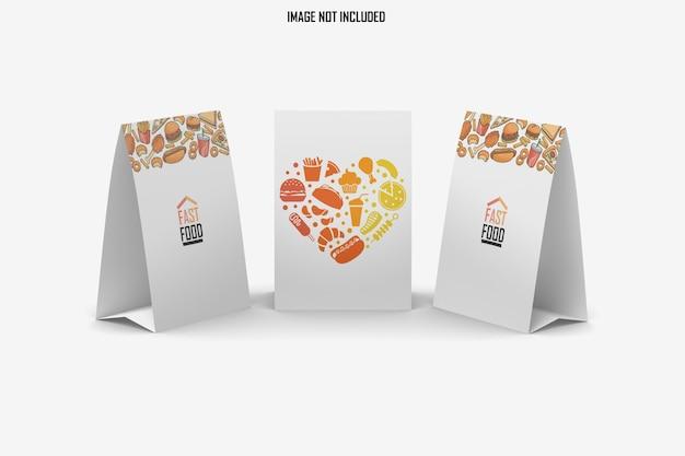 Projeto de maquete de três mesas modernas