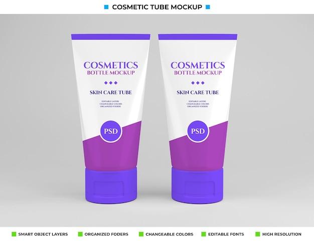 Projeto de maquete de tubo cosmético no conceito de cosméticos
