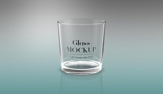 Projeto de maquete de vidro 3d isolado