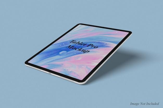 Projeto de maquete pro tablet isolado