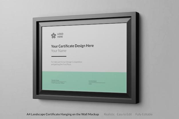 Projeto de maquete realista de certificado moderno