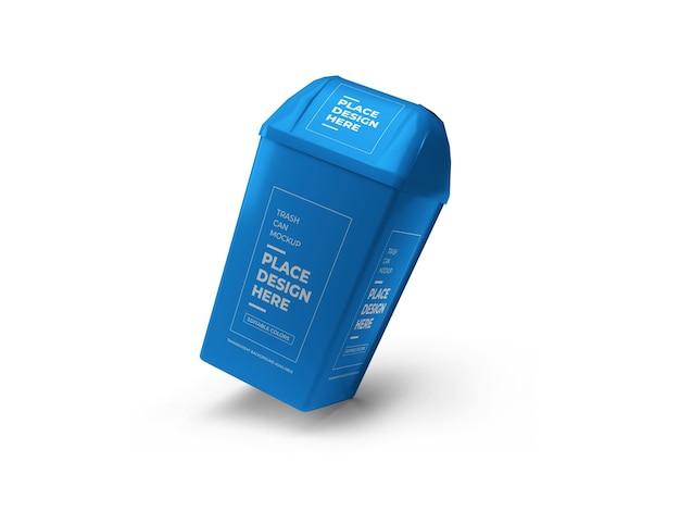 Projeto de mockup para lata de lixo em renderização 3d