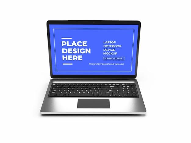 Projeto de modelo de dispositivo laptop isolado