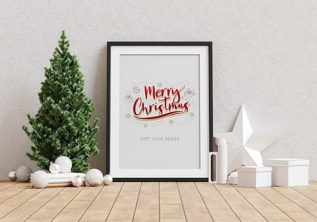 Projeto de moldura de saudação de feriado de natal