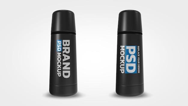 Projeto de renderização 3d de maquete de garrafa a vácuo