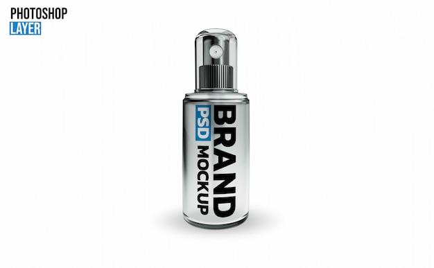 Projeto de renderização 3d de maquete de garrafa de spray