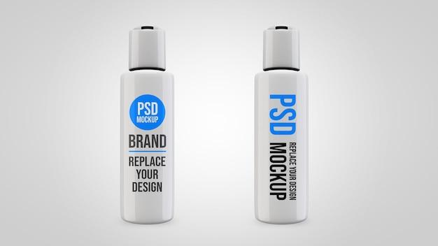 Projeto de renderização 3d de maquete de gel de garrafa