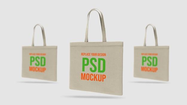 Projeto de renderização 3d de maquete de sacola