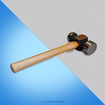 Projeto de renderização 3d do martelo isolado