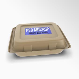 Projeto de renderização em 3d de maquete de recipiente para alimentos