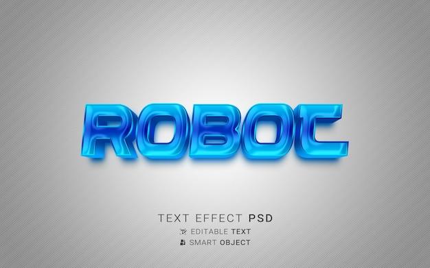 Projeto de robô de efeito de texto