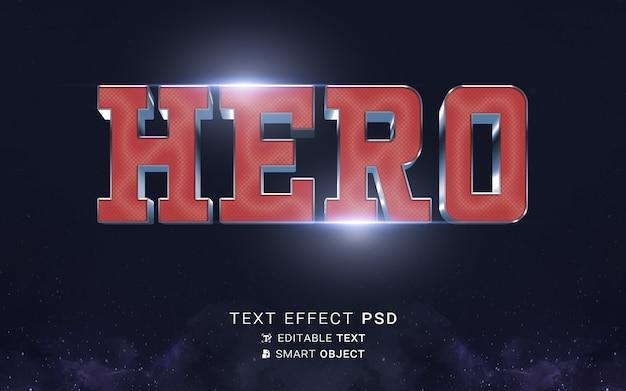 Projeto do herói do efeito de texto