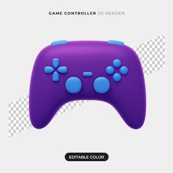 Projeto do ícone do controlador 3d isolado