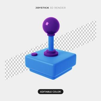 Projeto do ícone do joystick 3d isolado