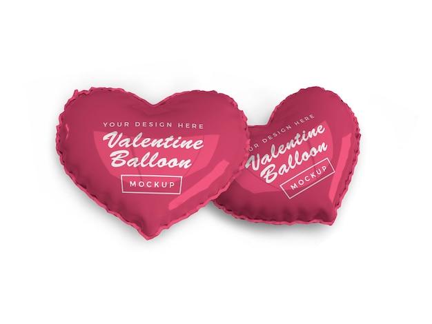 Projeto do modelo do balão do coração dos namorados
