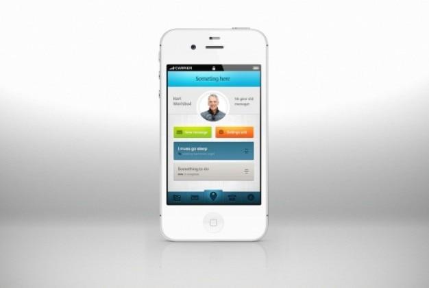 Projeto fresco da aplicação para iphone