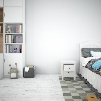Projeto interior do quarto das crianças