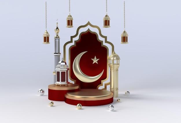 Projeto islâmico de celebração do ramadan kareem e eid al fitr mubarak