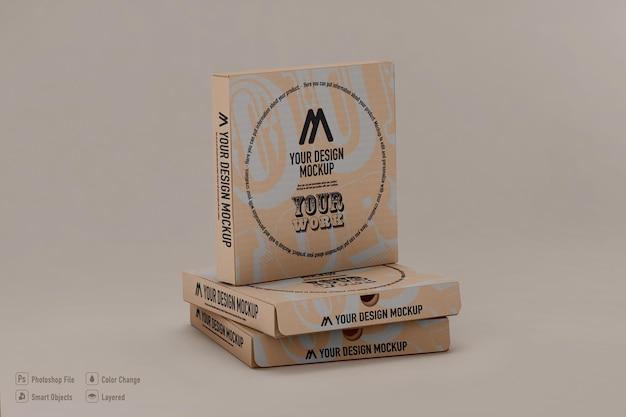 Projeto isolado de maquete de caixas de pizza